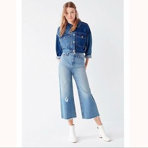 URBAN OUTFITTERS by BDG Cropped Denim Culotte Jean